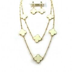 NECKLACE SET 13177330865 CREAM